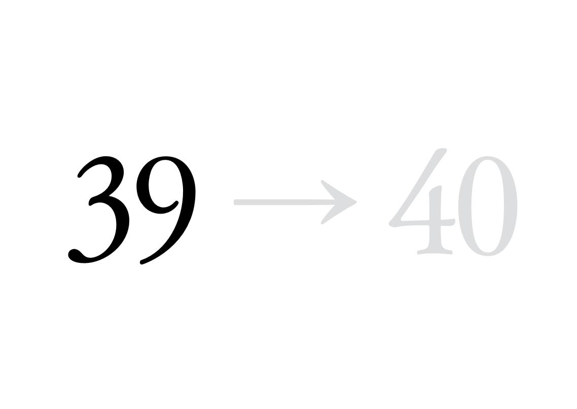39 → 40